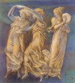 ThreeFemale Figures Dancing And Playing PreRaphaelite Sir Edward Burne Jones