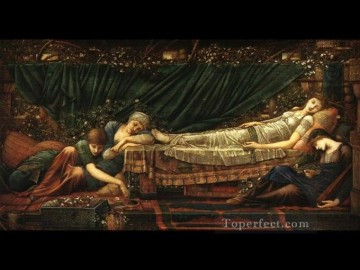 sleep Painting - Sleeping beauty PreRaphaelite Sir Edward Burne Jones