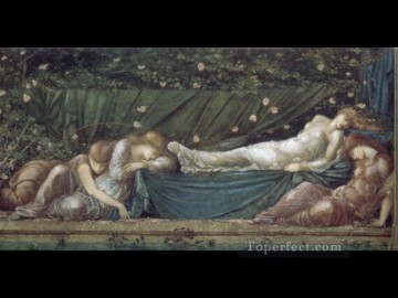 rose roses Painting - The Briar Rose The Rose Bower PreRaphaelite Sir Edward Burne Jones
