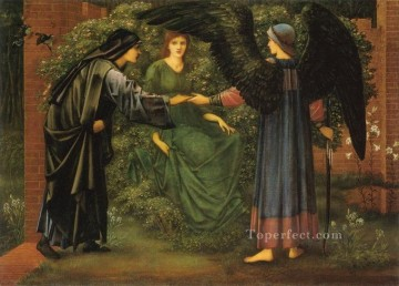 rose roses Painting - The Heart of the Rose PreRaphaelite Sir Edward Burne Jones