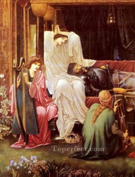 sleep Painting - The Last Sleep Of Arthur In Avalon PreRaphaelite Sir Edward Burne Jones