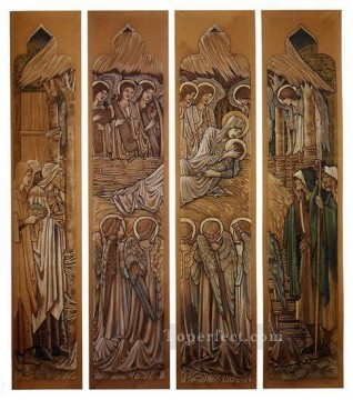Nativity Art - The Nativity Cartoons For Stained Glass At St Davids Church Hawarden PreRaphaelite Sir Edward Burne Jones
