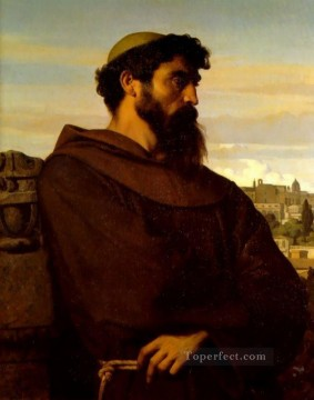 Man Works - The Roman Monk Academicism Alexandre Cabanel