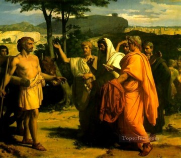 Inn Painting - Cincinnatus Receiving Deputies of the Senate Academicism Alexandre Cabanel