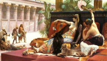 Alexandre Cabanel Painting - Cleopatra Testing Poisons on Condemned Prisoners Alexandre Cabanel