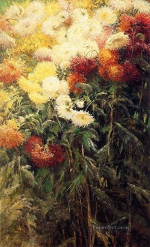 Chrysanthemums Garden at Petit Gennevilliers Gustave Caillebotte Oil Paintings