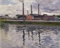 Factories at Argenteuil seascape Gustave Caillebotte
