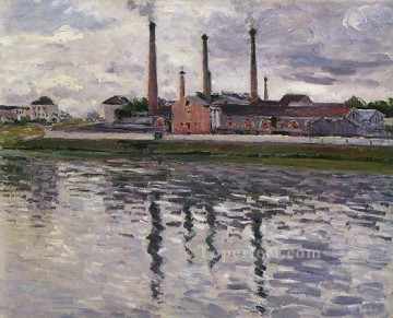 Argenteuil Canvas - Factories at Argenteuil seascape Gustave Caillebotte