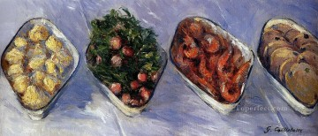 Hors D Oeuvre still life Gustave Caillebotte Oil Paintings