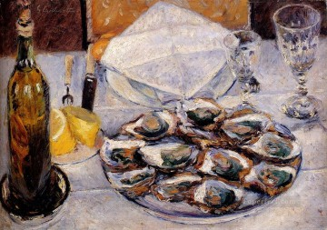 Still Life Oysters Gustave Caillebotte Oil Paintings