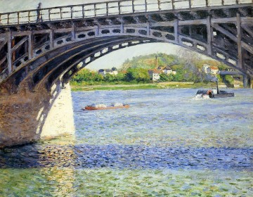 Argenteuil Canvas - The Argenteuil Bridge and the Seine Gustave Caillebotte