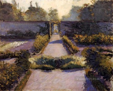 The Kitchen Garden Yerres landscape Gustave Caillebotte Oil Paintings