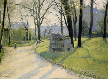 The Parc Monceau landscape Gustave Caillebotte Oil Paintings