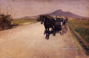 Naples Canvas - A Road Near Naples Gustave Caillebotte