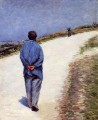 Man in a Smock aka Father Magloire on the Road between Saint Clair and Etreta Gustave Caillebotte