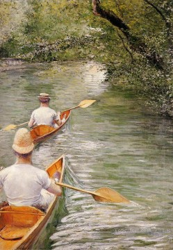 Perissoires aka The Canoes Gustave Caillebotte Oil Paintings