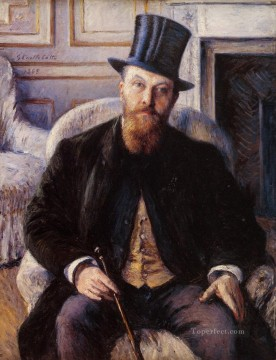 Portrait of Jules Dubois Gustave Caillebotte Oil Paintings
