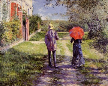 Rising Road Gustave Caillebotte Oil Paintings