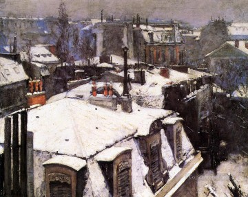 Rooftops Under Snow Gustave Caillebotte Oil Paintings