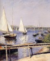 Sailing Boats at Argenteuil seascape Gustave Caillebotte