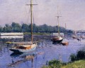 The Basin at Argenteuil seascape Gustave Caillebotte
