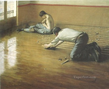 The Floor Scrapers2 Gustave Caillebotte Oil Paintings