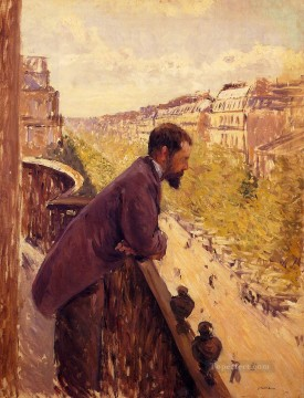 The Man on the Balcony Gustave Caillebotte Oil Paintings