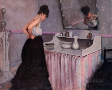 Woman at a Dressing Table Gustave Caillebotte Oil Paintings