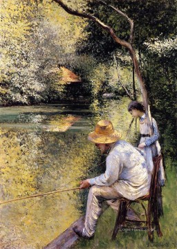 Fishing Gustave Caillebotte Oil Paintings