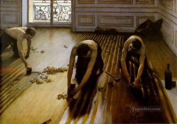 Floor Strippers Gustave Caillebotte Oil Paintings