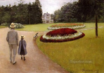 The Park on the Caillebotte Property at Yerres Gustave Caillebotte Oil Paintings