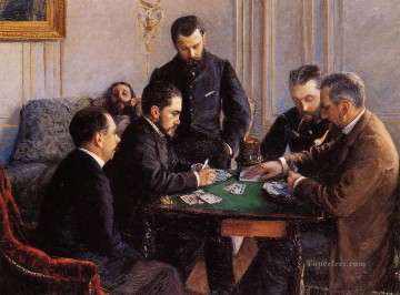 Game Art Painting - Game of Bezique Gustave Caillebotte