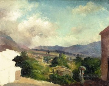 Mountain Painting - mountain landscape at saint thomas antilles unfinished Camille Pissarro