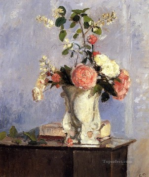 bouquet of flowers 1873 Camille Pissarro Oil Paintings