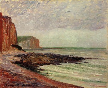 Cliffs Art - cliffs at petit dalles 1883 Camille Pissarro