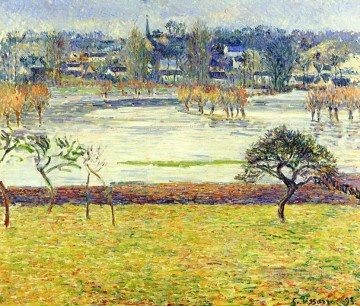 White Art - flood white effect eragny 1893 Camille Pissarro