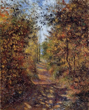 Camille Pissarro Painting - a path in the woods pontoise 1879 Camille Pissarro