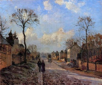 a road in louveciennes 1872 卡米耶·毕沙罗油画、国画