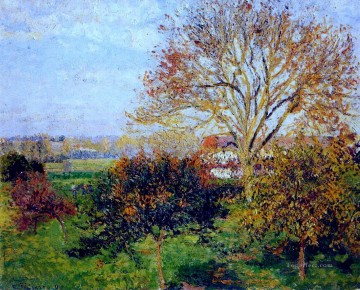 Morning Painting - autumn morning at eragny 1897 Camille Pissarro