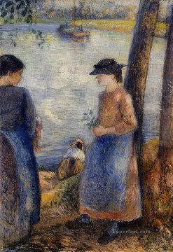 by Works - by the water 1881 Camille Pissarro