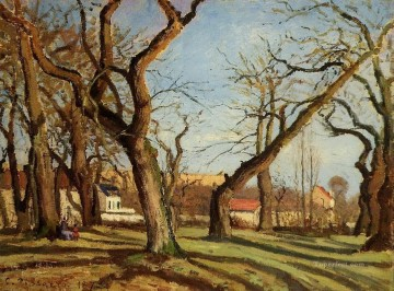 Trees Painting - chestnut trees at louveciennes 1872 Camille Pissarro