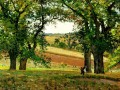 chestnut trees at osny 1873 Camille Pissarro