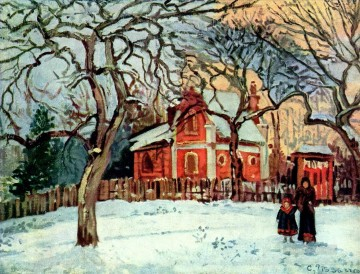 Camille Pissarro Painting - chestnut trees louveciennes winter 1872 Camille Pissarro