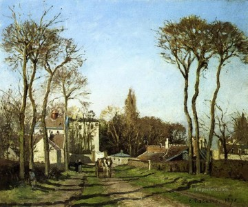 Camille Pissarro Painting - entrance to the village of voisins yvelines 1872 Camille Pissarro