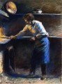 eugene murer at his pastry oven 1877 Camille Pissarro