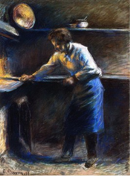 Camille Pissarro Painting - eugene murer at his pastry oven 1877 Camille Pissarro
