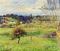 field at eragny 1885 Camille Pissarro