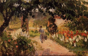 garden at eragny 1899 Camille Pissarro Oil Paintings