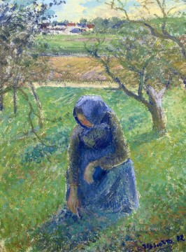 gathering herbs 1882 Camille Pissarro Oil Paintings