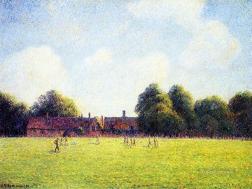 London Art - hampton court green london 1891 Camille Pissarro